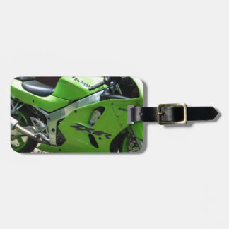 Kawasaki Green Ninja ZX-6R Motocycle, Street Bike Bag Tag