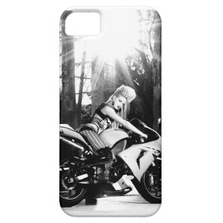 Kawasaki Motorcycle, biker chick, bike week, girl iPhone 5 Case