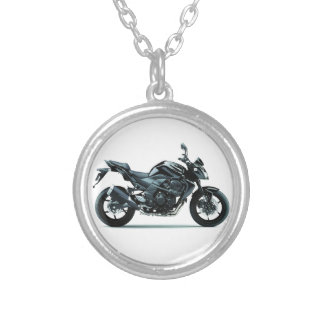 kawasaki z750 ed.2009 silver plated necklace