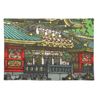 Kawase Hasui 川瀬 巴水: Toshogu Shrine in Nikko Placemat