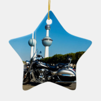 Kawazaki Nomad at Kuwait Towers Ceramic Star Ornament