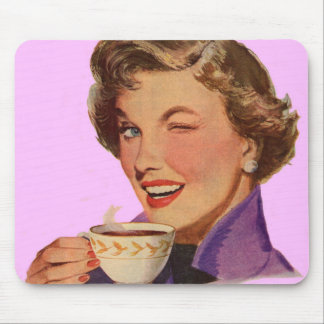 Kay loves coffee mouse pad