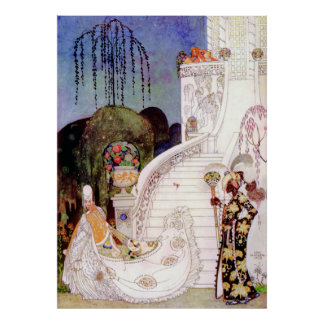 Kay Nielsen's Cinderella Leaving the Ball Poster