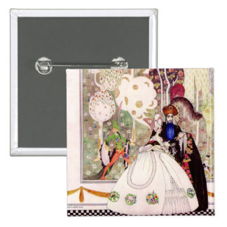 Kay Nielsen's Fairy Tale, Bluebeard and His Wife 2 Inch Square Button