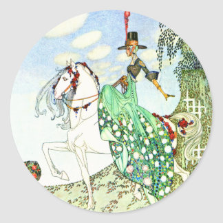 Kay Nielsen's Fairy Tale Princess Minotte Classic Round Sticker