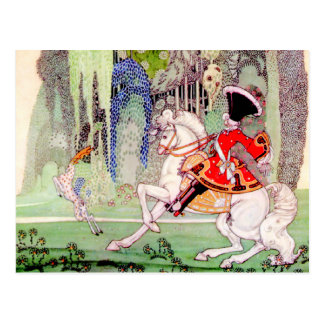 Kay Nielsen's Prince Charming from Sleeping Beauty Postcard