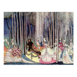 Kay Nielsen's Twelve Dancing Princesses Postcard