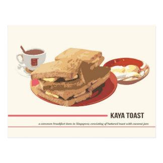 Kaya Toast Postcard