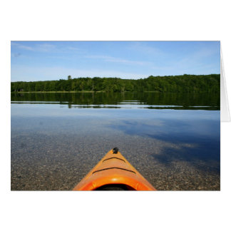 Kayak birthday greeting card