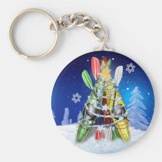 Kayak Christmas Tree Keychain