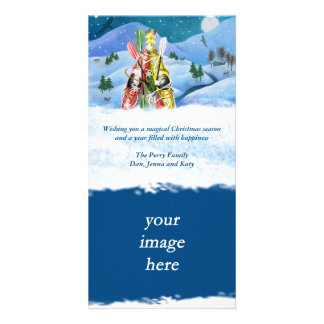 Kayak Christmas Tree - Wonders of Nature Custom Photo Card