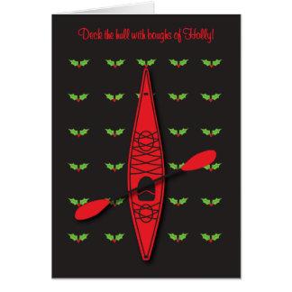 Kayak Deck the Hull Card