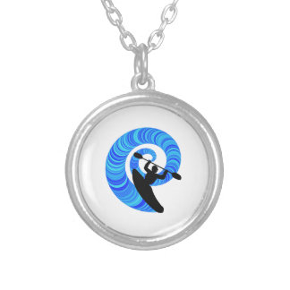 KAYAK DROPPER SILVER PLATED NECKLACE