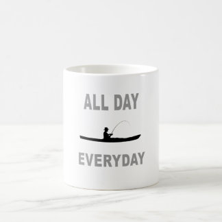 Kayak Fishing All Day Everyday Coffee Mug