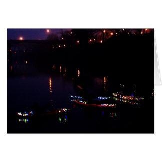 Kayak Flotilla of Lights Parade Salem Oregon Card