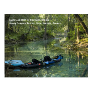 Kayak in Spring Postcard