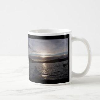 Kayak in Sunset Coffee Mug