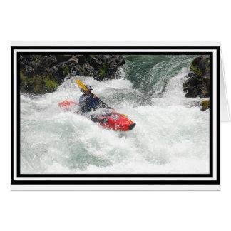 Kayak Lined Card