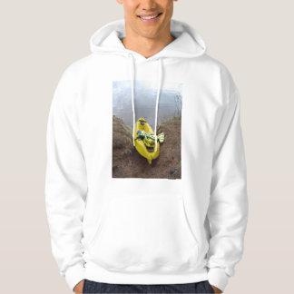Kayak on shore hoodie