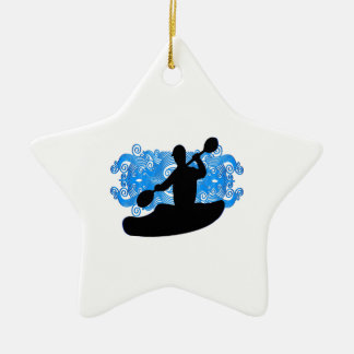Kayak Rush Ceramic Ornament