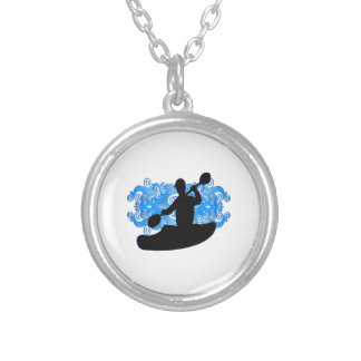 Kayak Rush Silver Plated Necklace