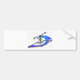 Kayak Wavey Bones Bumper Sticker