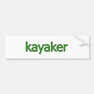 Kayaker Logo Bumper Sticker