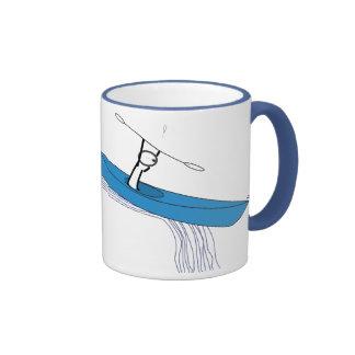 Kayaker on the water coffee mug