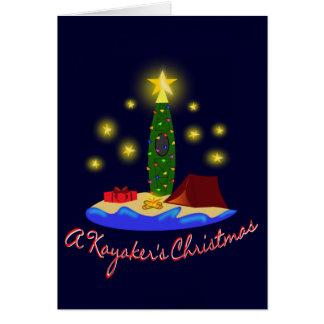 Kayakers Christmas Card