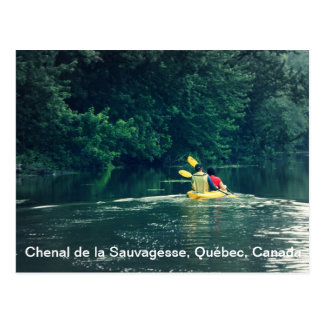 Kayakers in Quebec, Canada Postcard