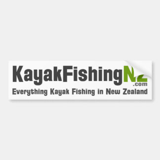 KayakFishingNZ.com Sticker Bumper Sticker