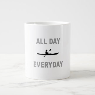 Kayaking All Day Everyday Large Coffee Mug