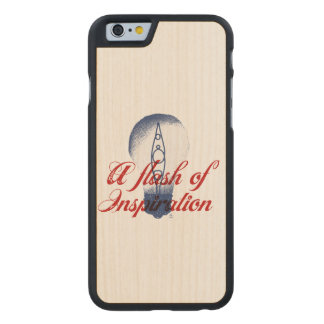 Kayaking always inspires me. carved maple iPhone 6 case