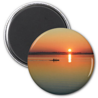 Kayaking at sunset magnet