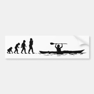 Kayaking Bumper Sticker