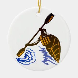 Kayaking Ceramic Ornament
