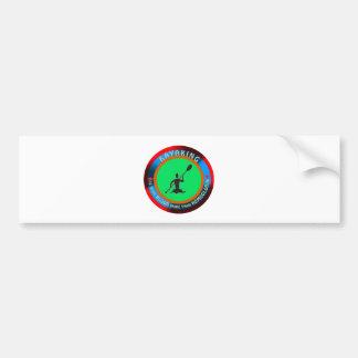 Kayaking designs bumper sticker