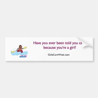 Kayaking Girl Bumper Sticker