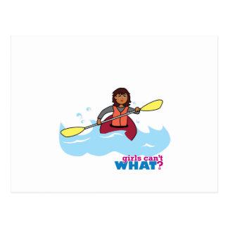 Kayaking Girl Postcard