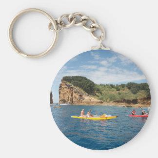 Kayaking in Azores Basic Round Button Keychain