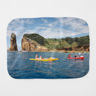 Kayaking in Azores Burp Cloth