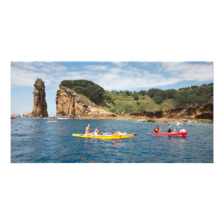 Kayaking in Azores Personalized Photo Card