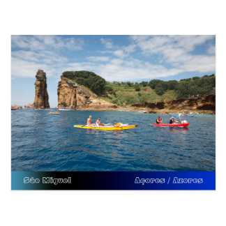 Kayaking in Azores Postcard