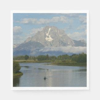 Kayaking in Grand Teton National Park Paper Napkin