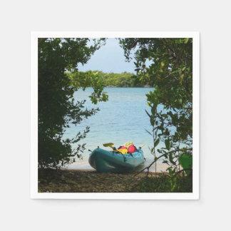 Kayaking in St. Thomas US Virgin Islands Napkin