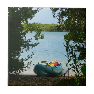 Kayaking in St. Thomas US Virgin Islands Tile