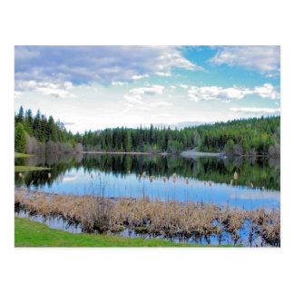 Kayaking Marshall Lake - Boundary B.C. Postcard