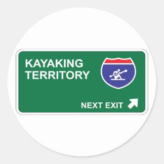 Kayaking Next Exit Classic Round Sticker