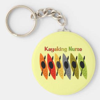 Kayaking Nurse T-Shirts and Gifts Keychain