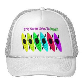 Kayaking Nurse T-Shirts Trucker Hat